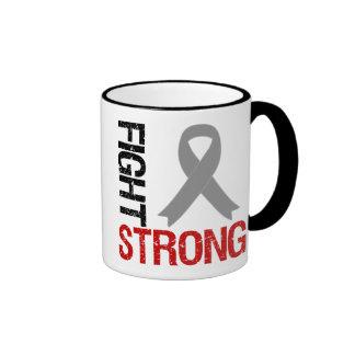 Diabetes Fight Strong Ribbon Ringer Mug