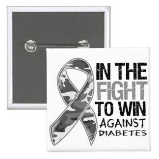 Diabetes - Fight To Win 2 Inch Square Button