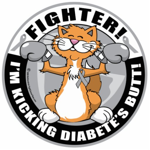 Diabetes Fighter Acrylic Cut Out