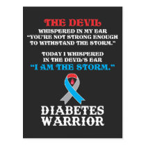 Diabetes Fighter Diabetic Type 1 T1D Insulin Postcard