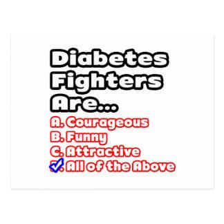 Diabetes Fighter Quiz Postcard