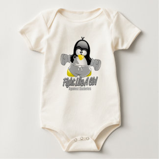 Diabetes Fighting Penguin Baby Bodysuit