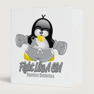 Diabetes Fighting Penguin Binder