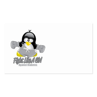 Diabetes Fighting Penguin Business Card