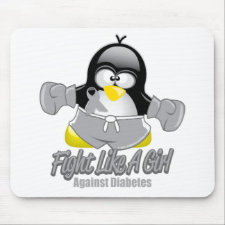 Diabetes Fighting Penguin Mouse Pad