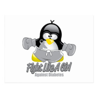 Diabetes Fighting Penguin Postcard