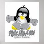 Diabetes Fighting Penguin Poster