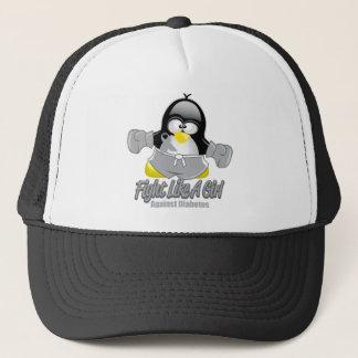 Diabetes Fighting Penguin Trucker Hat