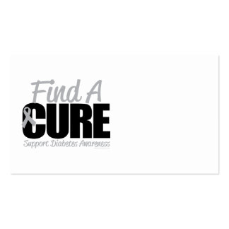 Diabetes Find A Cure 2 Business Card