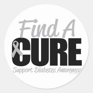 Diabetes Find A Cure 2 Classic Round Sticker