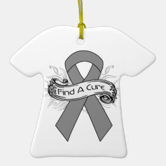 Diabetes Find A Cure Ribbon Christmas Ornaments