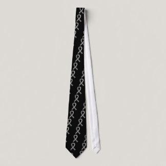 Diabetes Grey Ribbon 3 Neck Tie
