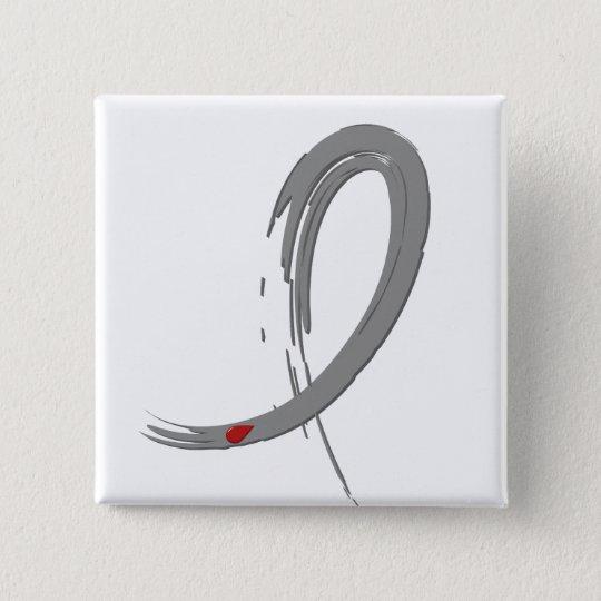 Diabetes Grey Ribbon A4 Button