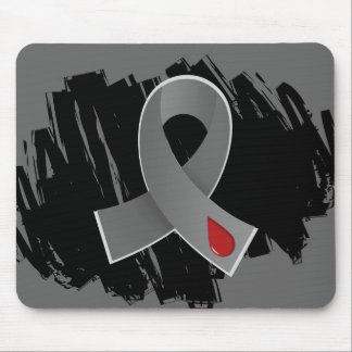 Diabetes Grey Ribbon With Scribble Mouse Pad