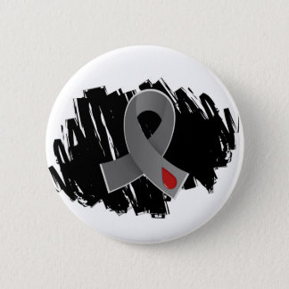 Diabetes Grey Ribbon With Scribble Pinback Button