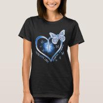 diabetes heart butterfly T-Shirt