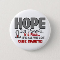 Diabetes HOPE 1 Pinback Button