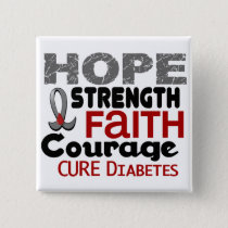 Diabetes HOPE 3 Pinback Button