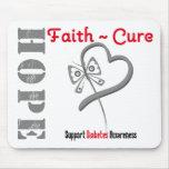 Diabetes Hope Faith Cure Butterfly v3 Mouse Pad