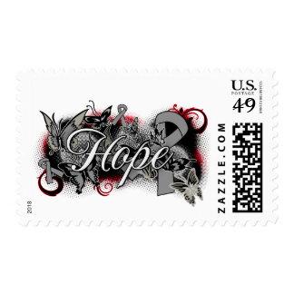 Diabetes Hope Garden Ribbon Postage Stamp