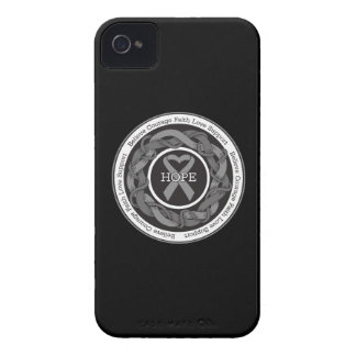 Diabetes Hope Intertwined Ribbon iPhone 4 Case-Mate Case