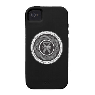 Diabetes Hope Intertwined Ribbon Case-Mate iPhone 4 Covers