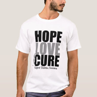 Diabetes Hope Love Cure T-Shirt