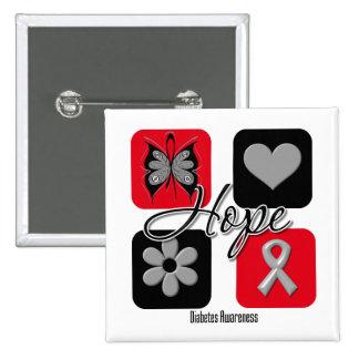 Diabetes Hope Love Inspire Awareness Buttons