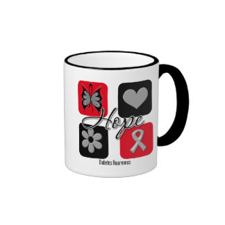 Diabetes Hope Love Inspire Awareness Ringer Mug