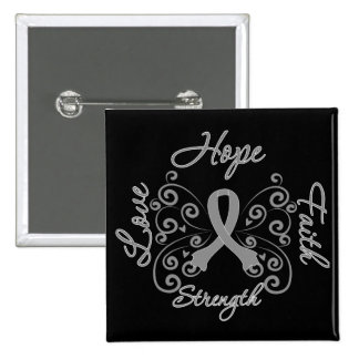 Diabetes Hope Motto Butterfly Buttons