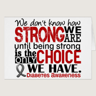 Diabetes How Strong We Are Card