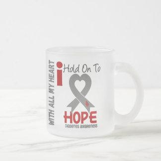 Diabetes I Hold On To Hope Coffee Mugs