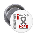 Diabetes I Hold On To Hope Pinback Button