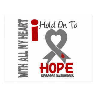 Diabetes I Hold On To Hope Postcard