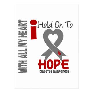 Diabetes I Hold On To Hope Postcard