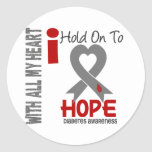 Diabetes I Hold On To Hope Round Sticker