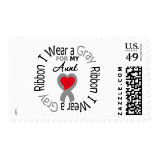 Diabetes I Wear Gray Ribbon For My  Aunt Postage Stamp