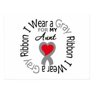 Diabetes I Wear Gray Ribbon For My  Aunt Postcard
