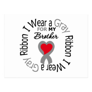 Diabetes I Wear Gray Ribbon For My  Brother Postcard