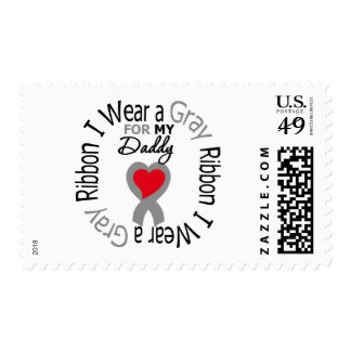 Diabetes I Wear Gray Ribbon For My  Daddy Postage Stamps