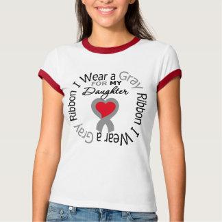 Diabetes I Wear Gray Ribbon For My Daughter T-shirt