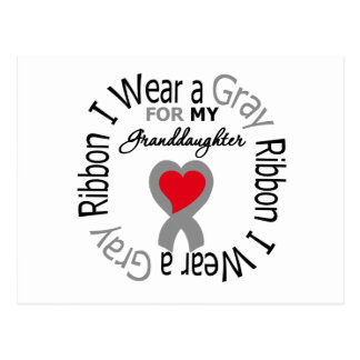 Diabetes I Wear Gray Ribbon For My Granddaughter Postcard