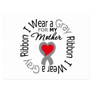 Diabetes I Wear Gray Ribbon For My  Mother Postcard