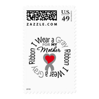 Diabetes I Wear Gray Ribbon For My  Mother Stamp