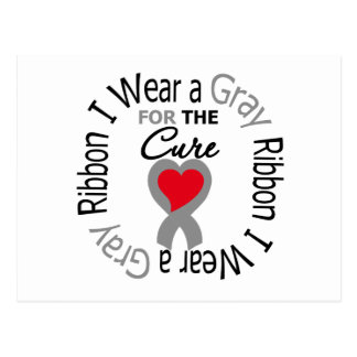 Diabetes I Wear Gray Ribbon For The Cure Postcard