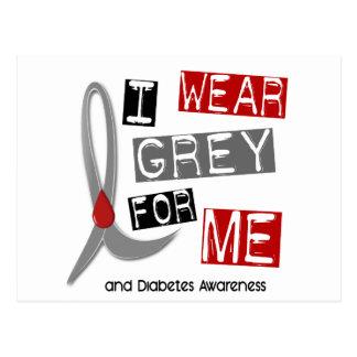 Diabetes I Wear Grey For ME 37 Postcard