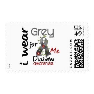 Diabetes I Wear Grey For ME 43 Postage Stamp