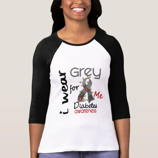 Diabetes I Wear Grey For ME 43 T Shirts