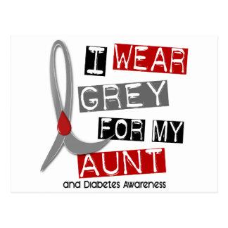 Diabetes I Wear Grey For My Aunt 37 Postcard