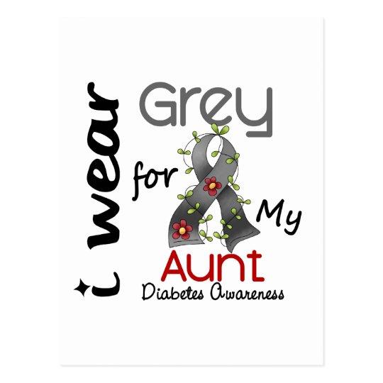 Diabetes I Wear Grey For My Aunt 43 Postcard